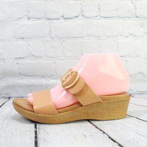 MARIELLA Wedges Slip-on Slides Sandals Sz 6.5 M